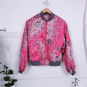 Free People Quilt Lined Bomber Jacket